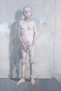 Jean Rustin - Autoportrait ou homme tenant son sexe, 1995