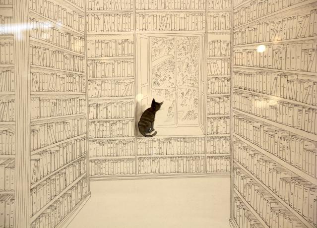 Sempé au salon du Livre - Affiche de l'Exposition © Denoël 2014