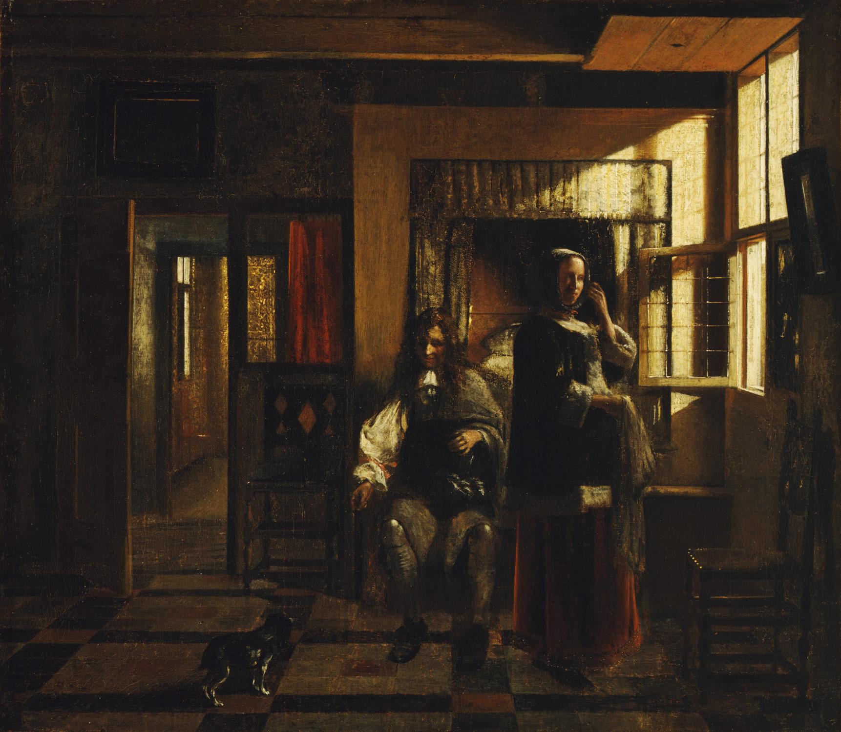 Pieter de Hooch, Intérieur avec un jeune couple, Metropolitan Museum, New York
